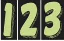 7 1/2″ Chartreuse & Black Windshield Numbers