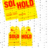Sold / Hold Mirror Hang Tags